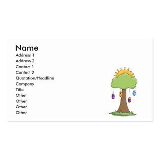 spring easter egg tree business card