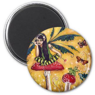 Spring faery refrigerator magnet