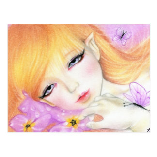 Spring Fairy Violets Postcard