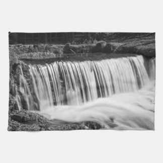 Spring Falls At Hodgson Grayscale Kitchen Towel