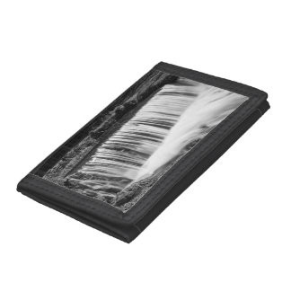 Spring Falls At Hodgson Grayscale Tri-fold Wallet