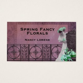 Spring Fancy in Rose and Green Business Card