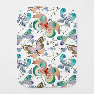 Spring Fantasy Butterfly Collection #3 Burp Cloth