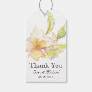 Spring Fantasy Pastel Watercolor Floral Pack Of Gift Tags