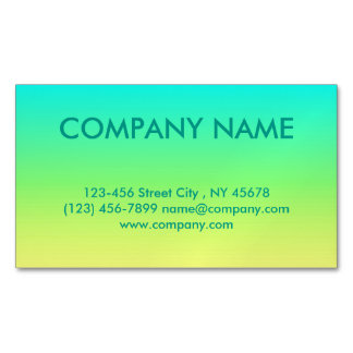 spring fashion lime green lemon yellow ombre magnetic business card