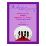 Spring Fashion Show Poster