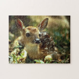Spring Fawn Photo Puzzle with Gift Box