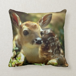 Spring Fawn Throw Pillow
