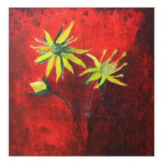 Spring Feeling Floral Art Acrylic Wall Art
