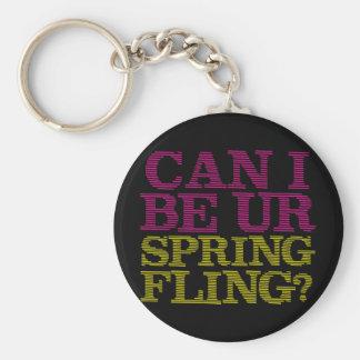 Spring Fling Basic Round Button Keychain