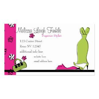 Spring Fling Fashion Business Card Templates