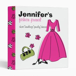 Spring Fling Fashion Illustration 3 Ring Binder