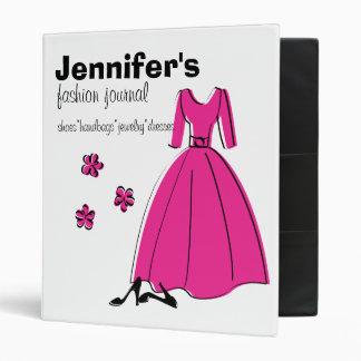 Spring Fling Fashion Illustration 3 Ring Binders