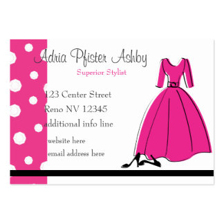 Spring Fling Fashion Large Business Card