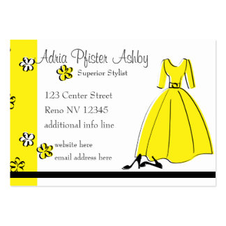 Spring Fling Fashion Yellow Business Card Templates