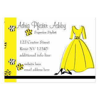 Spring Fling Fashion Yellow Large Business Card