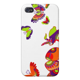 Spring Fling Retro Rabbit iPhone 4/4S Cover
