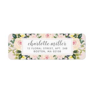 Spring Floral Blush Return Address Label