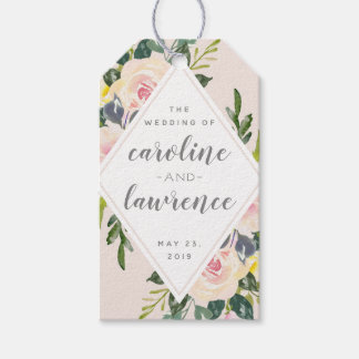 Spring Floral Blush | Wedding Gift Tag with Photo