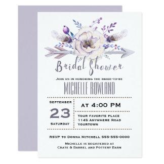 Spring Floral Boho Bridal Shower Invitation
