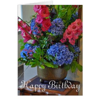 Spring floral bouquet card