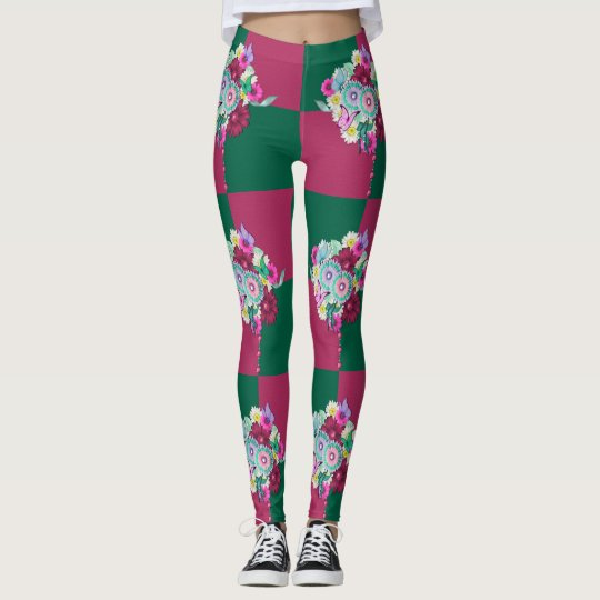 Spring Floral Bouquet Leggings