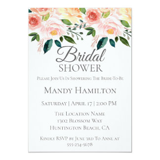 Spring Floral Bridal Shower Invitation