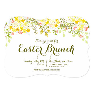 Spring Floral Easter Brunch Invitation