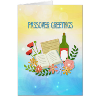 Spring Floral Passover Greetings Card
