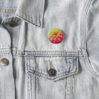 spring floral round button