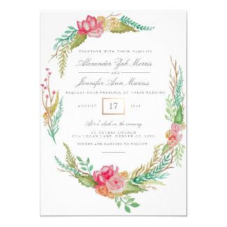 Spring Floral Watercolor | Wedding Card