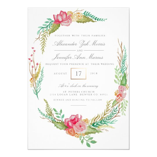 Spring Floral Watercolor | Wedding Card