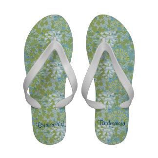 Spring Floral Wedding Flip Flops Sandals