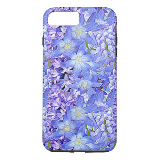 Spring Florals in Lavender and Blue iPhone 7 Plus Case