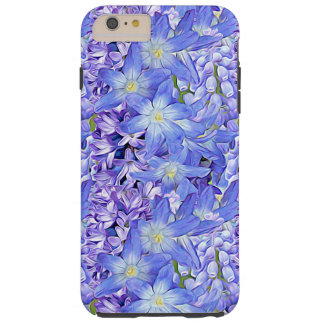 Spring Florals in Lavender and Blue Tough iPhone 6 Plus Case