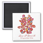 Spring Flower Chinese Wedding Save The Date Magnet