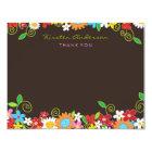Spring Flower Garden Bridal Shower Thank You Card