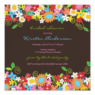 Spring Flower Garden Daisies Bridal Shower Invite
