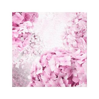 Spring Flower Hydrangea Pastel Collage Canvas Print