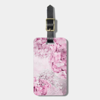 Spring Flower Hydrangea Pastel Collage Luggage Tag