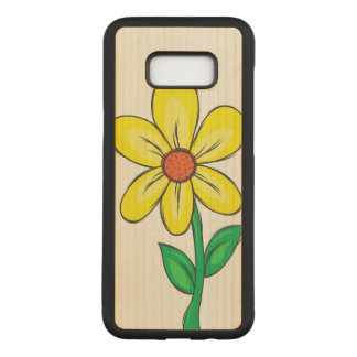 Spring Flower Illustration Carved Samsung Galaxy S8+ Case