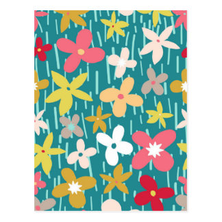 spring flower meadow postcard