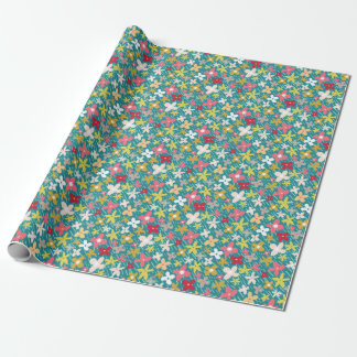 spring flower meadow wrapping paper
