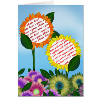 Spring Flower  Photo Frame Card