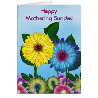 Spring Flower  Photo Frame for Mothering Sunday Greeting Cards
