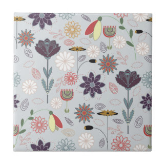 Spring flower repeat pattern tile