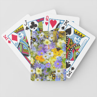 Spring Flower Selection Bicycle Playing Cards