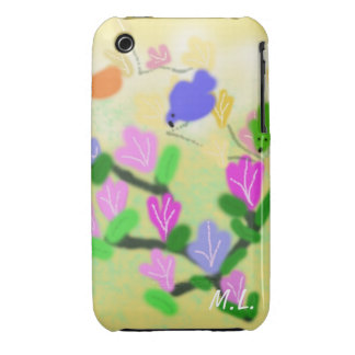 spring flowering branch and birds Case-Mate iPhone 3 case