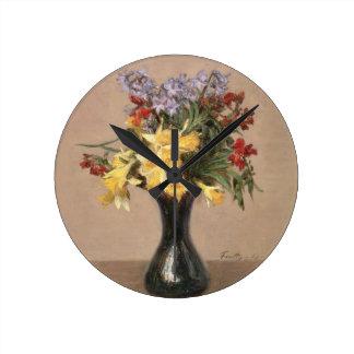 Spring Flowers, 1869 (oil on canvas) Wallclock