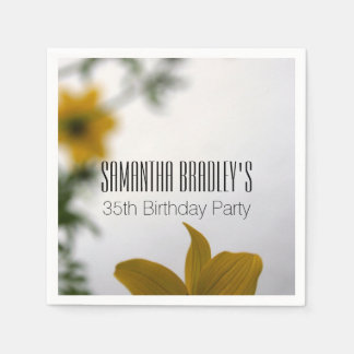 Spring Flowers 35th Birthday Party Paper Napkins